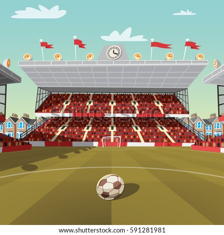 English football stadium