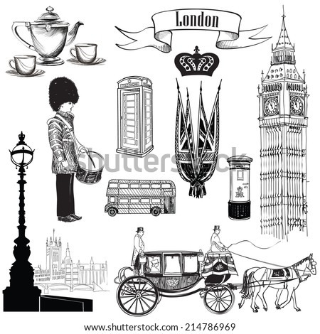 english icon set. london...