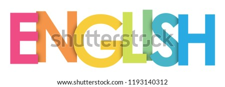 ENGLISH rainbow letters banner