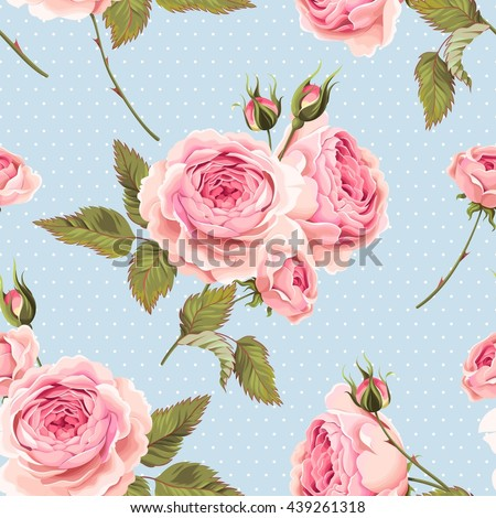 english roses seamless