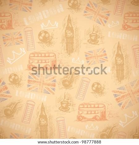 english vintage retro background