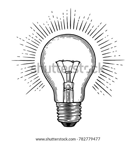 Engraving light bulb