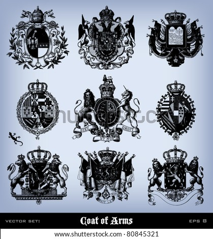 engraving vintage coat of arms...