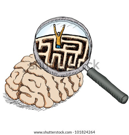 enigma - stock vector