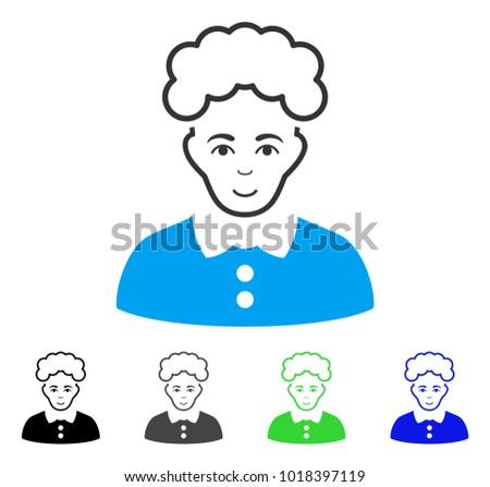 enjoy blonde woman vector