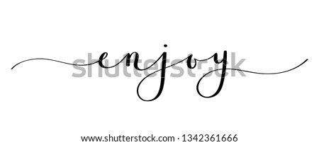 ENJOY brush calligraphy banner Foto stock ©