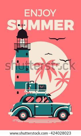 enjoy summer beautiful vector...