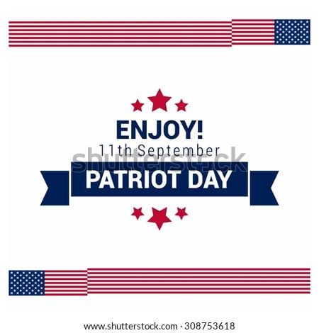 enjoy 11th september ribbon banner patriot day 9 11 patriot day