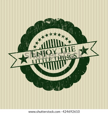 Enjoy the little things rubber grunge stamp