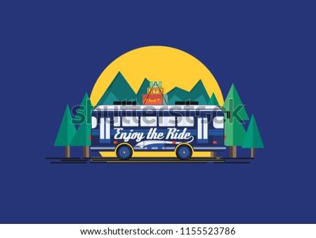 enjoy the ride tour bus
