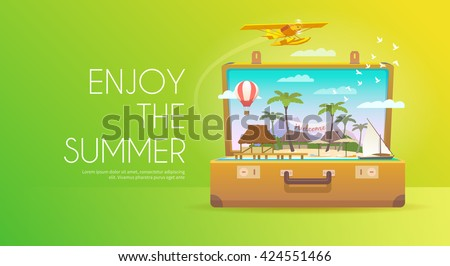 enjoy the summer open suitcase