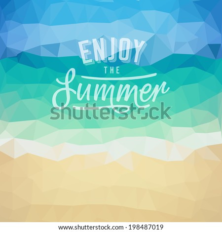 enjoy the summer poster on