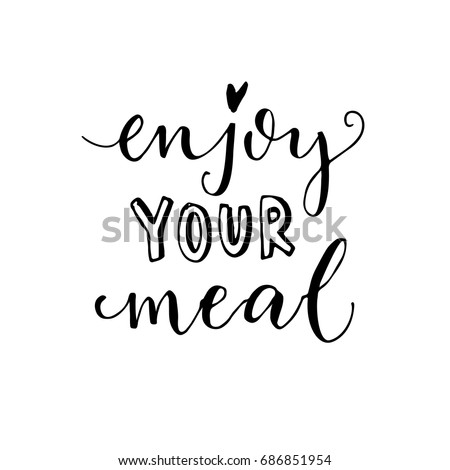 enjoy your meal vector