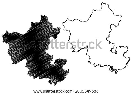 Ennepe-Ruhr-Kreis district (Federal Republic of Germany, State of North Rhine-Westphalia, NRW, Arnsberg region) map vector illustration, scribble sketch Ennepe Ruhr Kreis map Stock foto ©