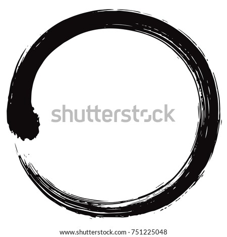 enso japanese zen circle brush