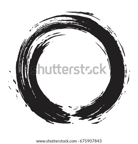 enso zen circle brush vector