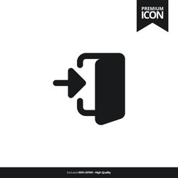 Enter black color of flat simple icon. illustration vector of mobile application. Modern style of design. Line single minimalistic sign