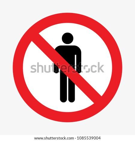 Enter prohibition sign. Vector illustration Stock photo ©