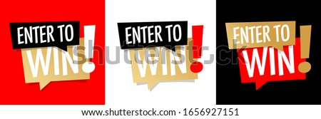 Enter to win on different background Photo stock ©
