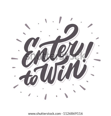 Enter to win! Vector banner.