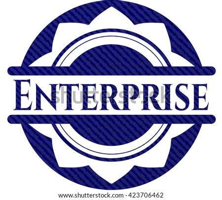 Enterprise emblem with jean high quality background