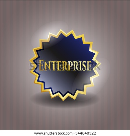 Enterprise gold emblem