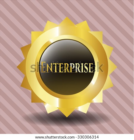 Enterprise golden emblem