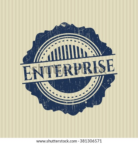 Enterprise grunge stamp