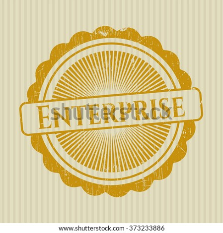 Enterprise grunge style stamp