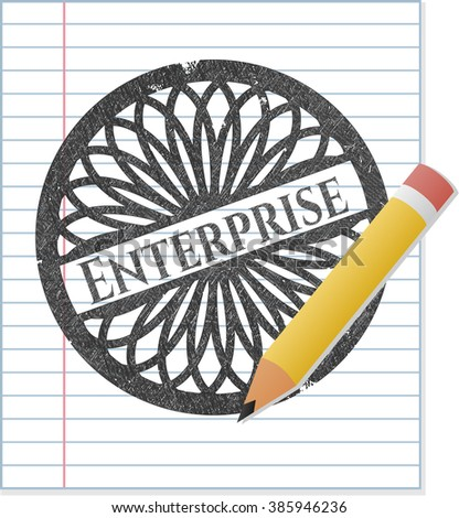 Enterprise pencil strokes emblem