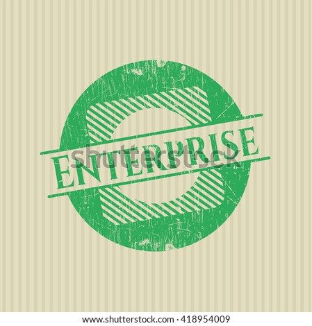 Enterprise rubber grunge texture stamp