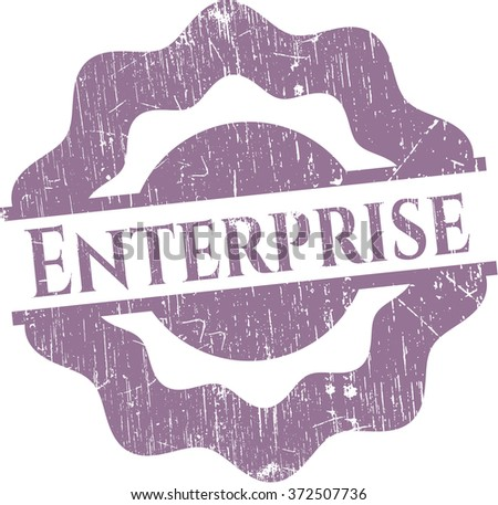Enterprise rubber stamp with grunge texture