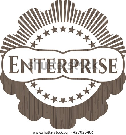 Enterprise wood icon or emblem