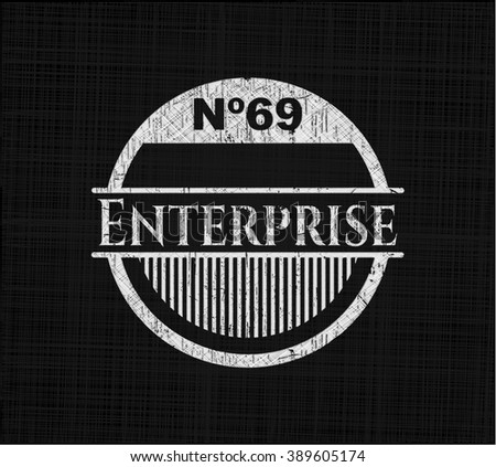 Enterprise written on a chalkboard