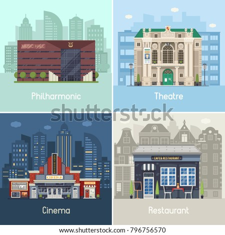 entertainment city places set