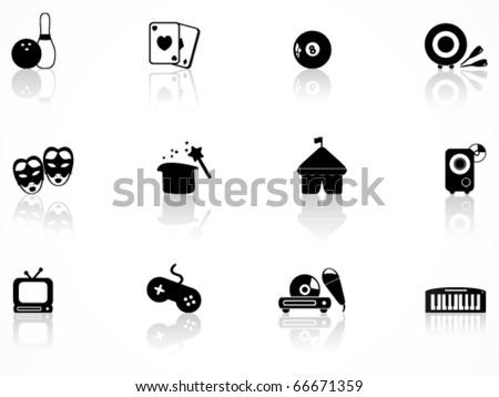 Entertainment icons set - stock vector