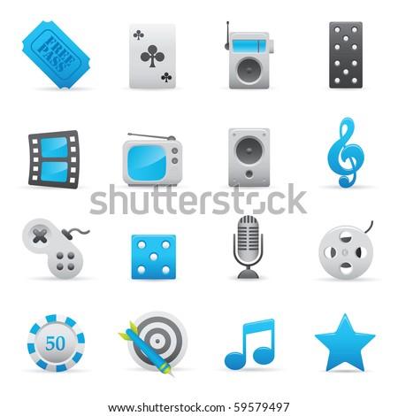 Entertainment Icons Set | Indigo Series 01