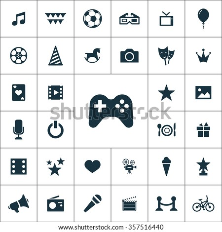 entertainment Icons Vector set