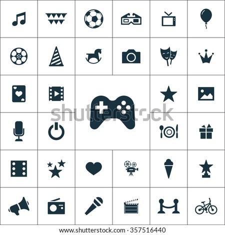 entertainment Icons Vector set