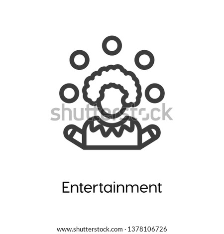 Entertainment vector icon, Entertainment symbol. Linear style sign for mobile concept and web design. Entertainment symbol logo illustration. vector graphics - Vector.
