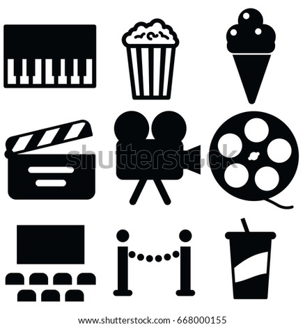 entertainment vector icon set