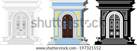 entrance door in classical style