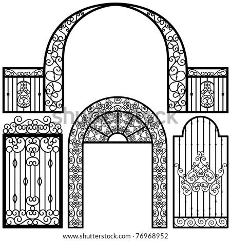 entrance gate door fence