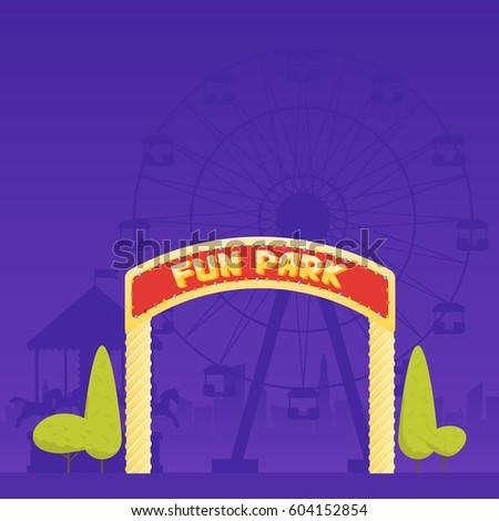 entrance to the amusement park. ...