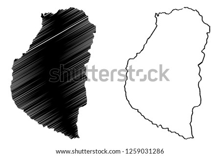 Entre Rios (Region of Argentina, Argentine Republic, Provinces of Argentina) map vector illustration, scribble sketch Entre Ríos Province map