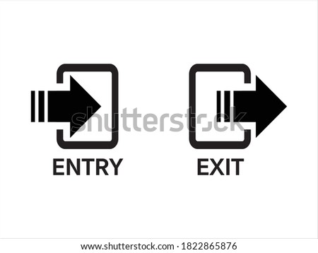 entry and exit sign, entry and exit door Stockfoto ©
