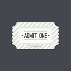 Entry ticket to old vintage style. Admit one.