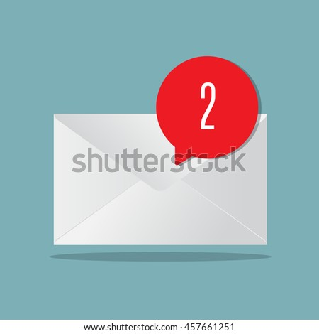 envelop with alert new message icon vector illustration
