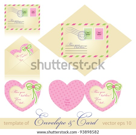 envelope and greeting card template. vector
