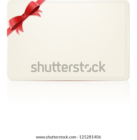 envelope and red ribbon isolated on white background